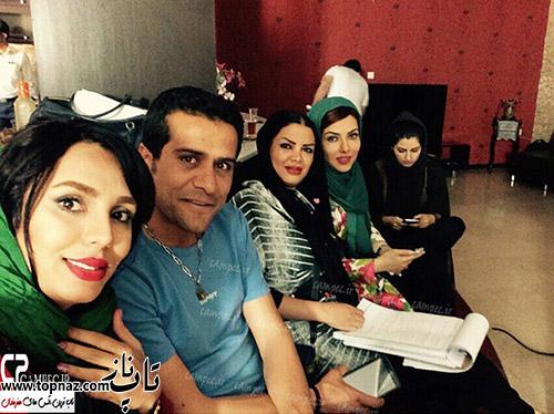 عکس های لیلا اوتادی پشت صحنه فیلم مدعی