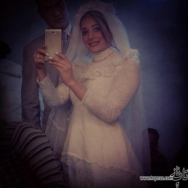 عکس ناهید محمودی بازیگر جوان ایرانی در لباس عروس