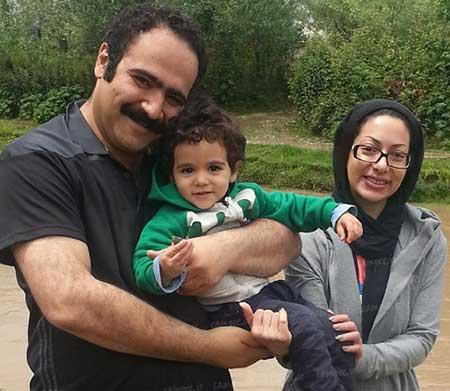 بهادر ملکی و همسر و فرزندش/صدا پیشه فامیل دور