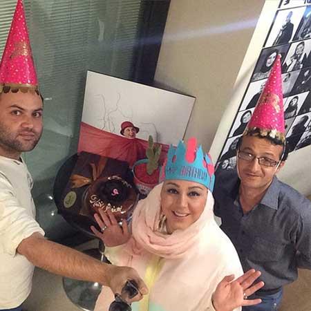 عکس های بهنوش بختیاری در جشن تولدش در کنار خانواده