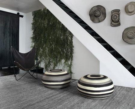 جاجیم سیاه و سفید در دکور منزل