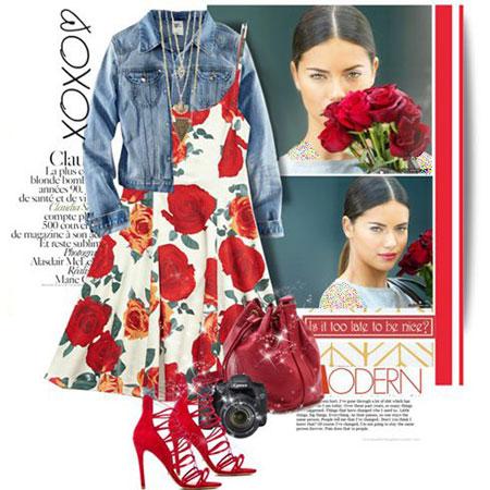 ست لباس بهاری آدریانا لیما Adriana Lima