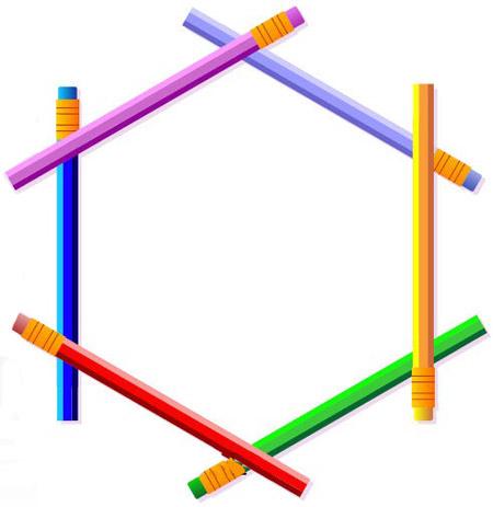 معمای با جواب چیدن مداد رنگی ها