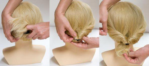 آموزش تصویری بافت مو مدل دم اسبی با سنجاق کریستال