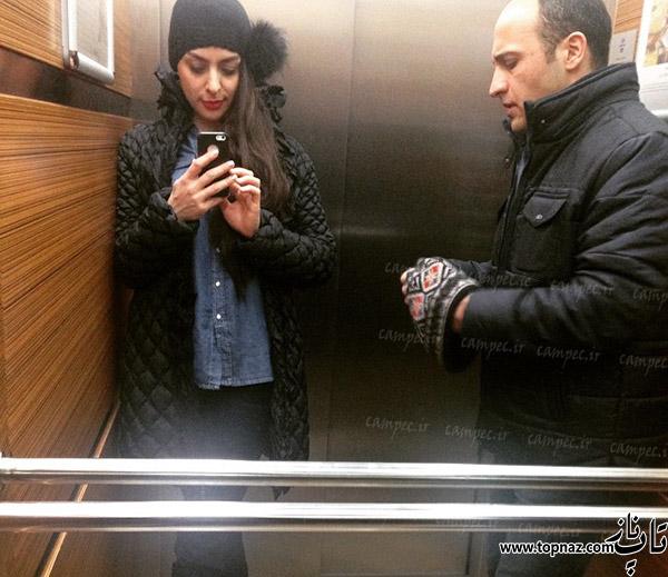علی سرابی و همسرش