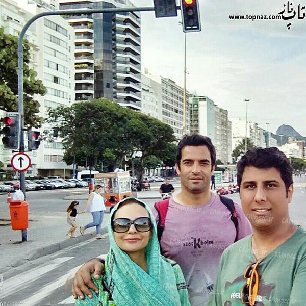 عکس یکتا ناصر و همسرش در خارج