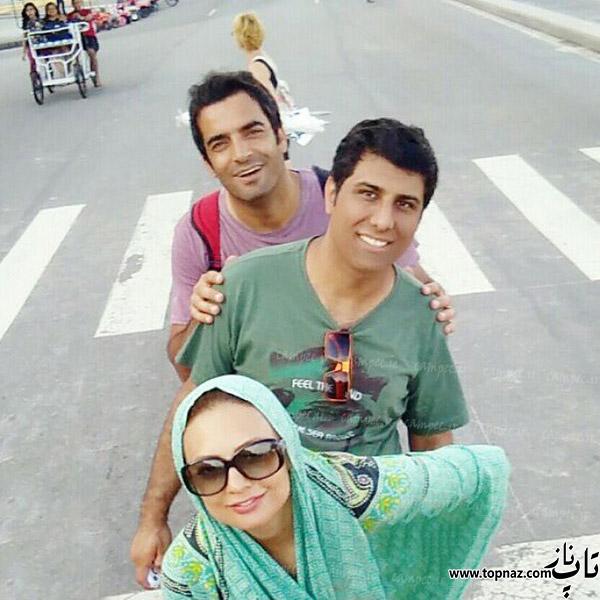 یکتا ناصر و همسرش در خارج