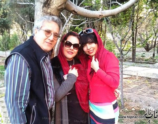 افسانه چهره آزاد در کنار همسر و دخترش