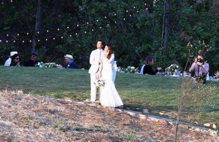 عکس مراسم عروسی بازیگر زن و مرد خون آشام!