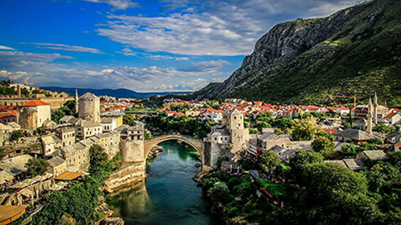 پل قدیمی شهر Mostar, بوسنی و هرزگوین