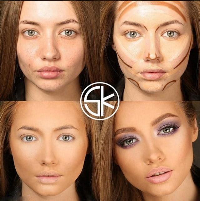 مدل آرایش برای پنهان کردن خستگی صورت