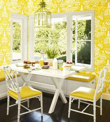 بهترین رنگ ها در دکوراسیون,تاثیر رنگ زرد در دکوراسیون خانه
