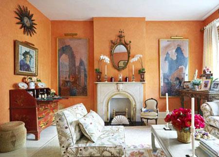 بهترین رنگ ها در دکوراسیون,تاثیر ترکیب رنگ زرد و نارنجی در دکوراسیون خانه