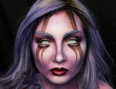 عکس دختر با آرایش فانتزی