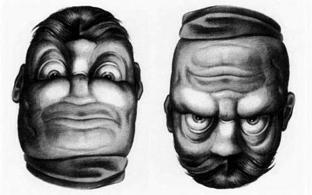 عکس های جاب خطای دید چهره انسان
