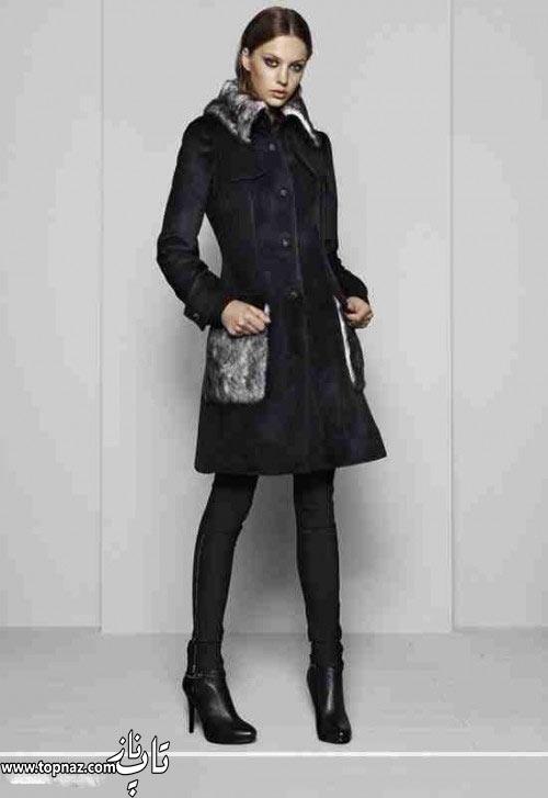 مدل لباس زنانه چرمی و توری زیبا