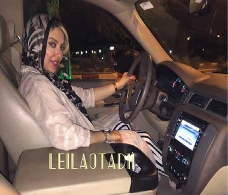 عکس لیلا اوتادی در حال لذت بردن از رانندگی!