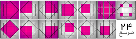 معمای تصویری : چند مربع می بینید؟