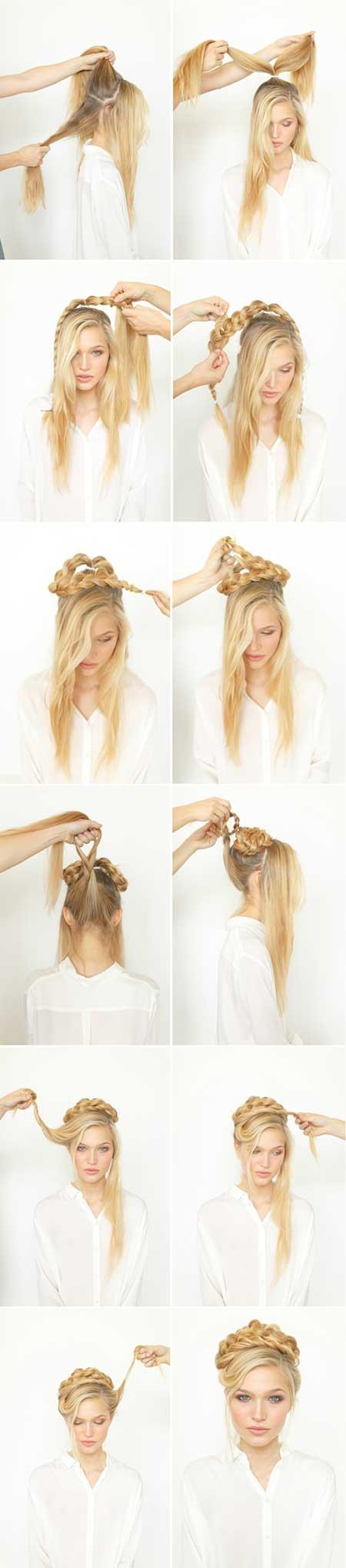 مدل موی بافته شده زیبا