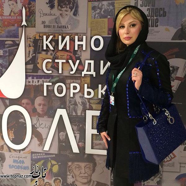 عکس های نیوشا ضیغمی در مسکو