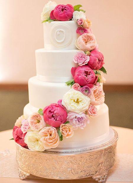 گل طبیعی برای تزیین کیک عروسی   آکا