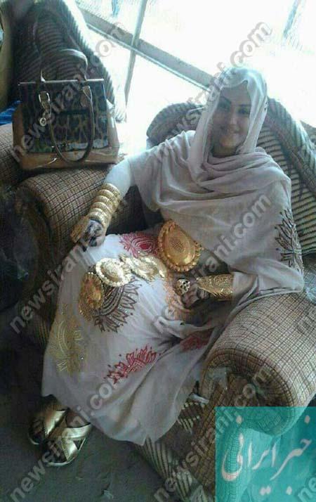 دختر ایرانی که از سر تا پا پر از طلا و جواهر است!