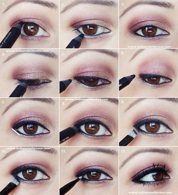 مدل آرایش چشم دودی مدرن