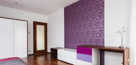 کاغذ دیواری های اتاق خواب,مدل کاغذ دیواری بنفش