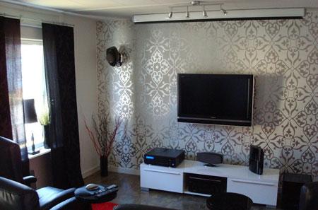 طرح کاغذ دیواری برای اتاق نشیمن,کاغذ دیواری های گلدار