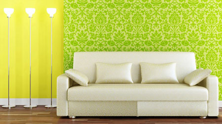 طرح های کاغذ دیواری با رنگ شاد,کاغذ دیواری های گلدار