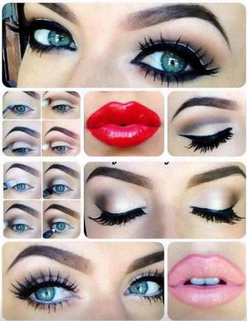 آموزش آرایش چشم مخصوص چشم آبی ها