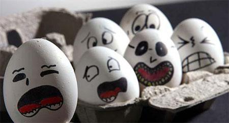 عکس های جالب و خنده دار تخم مرغ ها