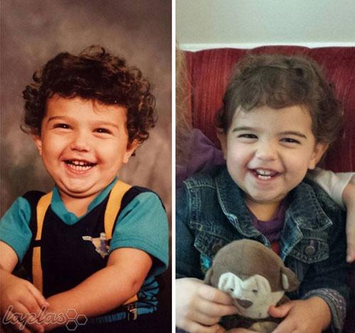 عکس های جالب از شباهت فرزندان با والدین در عکس های قدیمی