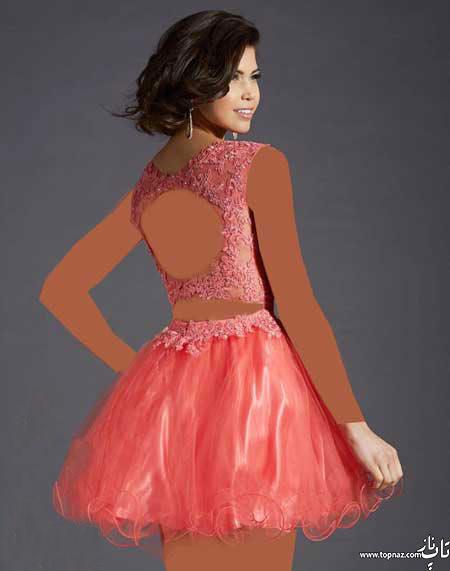 مدل لباس مجلسی زنانه کوتاه کلاریس