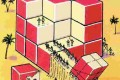 معمای شمارش تعداد مکعب با دو وجه قرمز