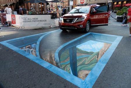 جالب ترین نقاشی های سه بعدی کف خیابان