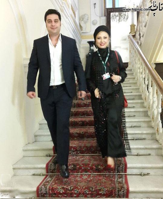 نیوشا ضیغمی با مدل لباس متفاوت در خارج ایران