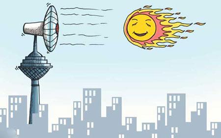 کاریکاتور گرما و فصل تابستان