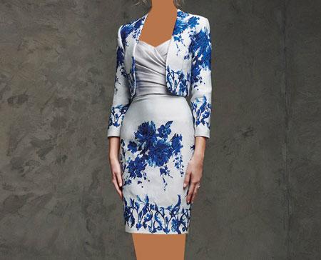 مدل لباس مجلسی کار شده گیپور