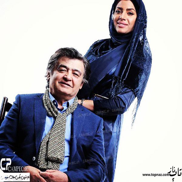 عکس رضا رویگری در کنار همسرش