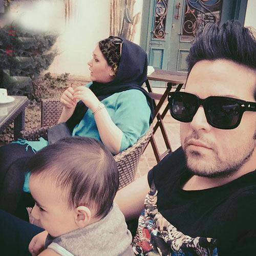 عکس عماد طالب زاده در کنار همسر و فرزندش