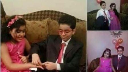 ازدواج جنجالی پسر 8 ساله و دختر 5 ساله در مصر