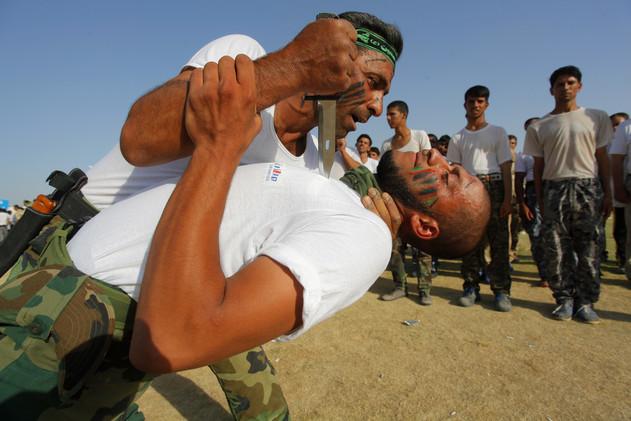 آموزش نیروهای داوطلب عراقی در نجف