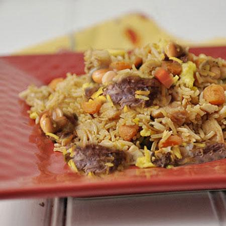 طرز تهیه غذای ترکی نخودپلو با سبزیجات