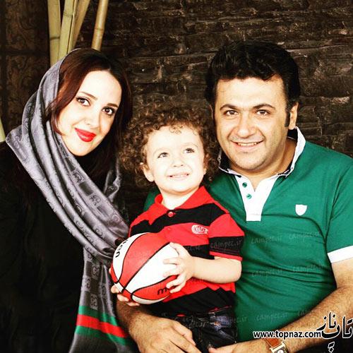 شهرام عبدل در کنار همسرش