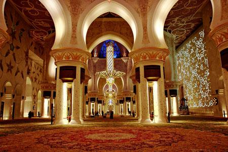 مسجد شیخ زاید, مسجد شیخ زاید در امارات, مسجد شیخ زاید در ابوظبی