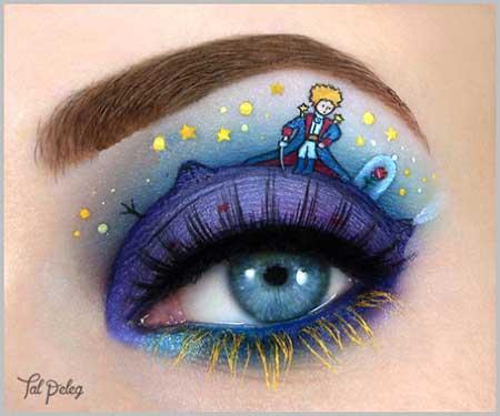 مدل آرایش چشم هنری و خلاقانه بسیار زیبا