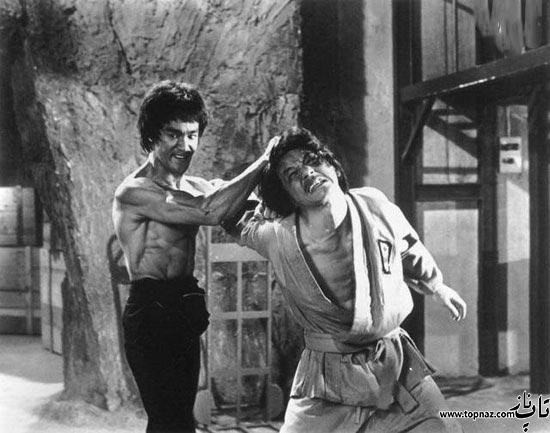 عکس آخرین تولد بروس لی و عکس جکی چان در کنا بروس لی
