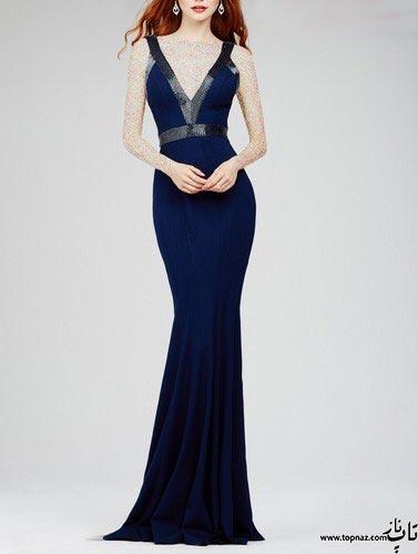 مدل لباس شب بلند شیک زنانه 2016