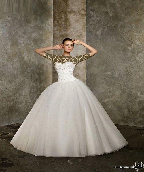 مدل لباس عروس پرنسسی 2016 و 95